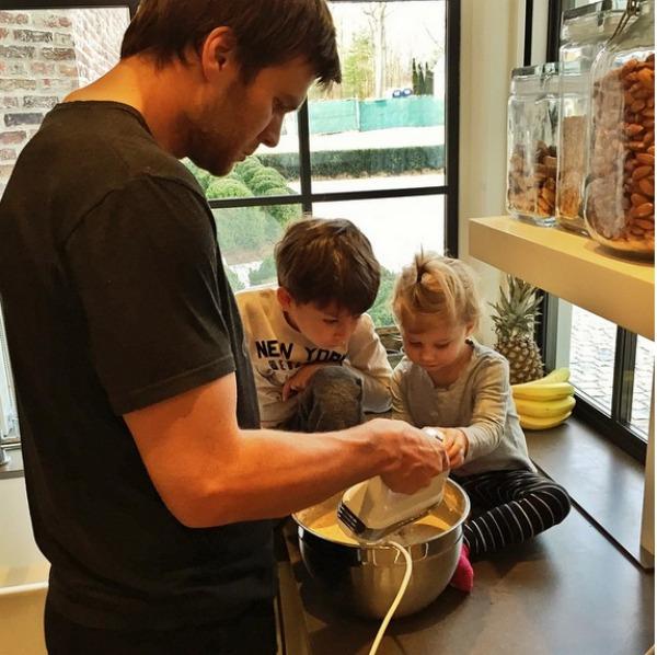 Tom Brady with his kids Vivian and Benjamin