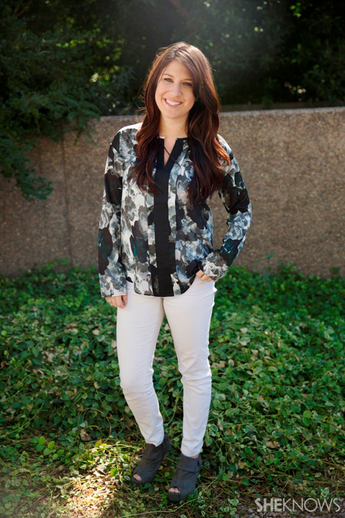 Fashion Face-Off: two ways to style a floral top
