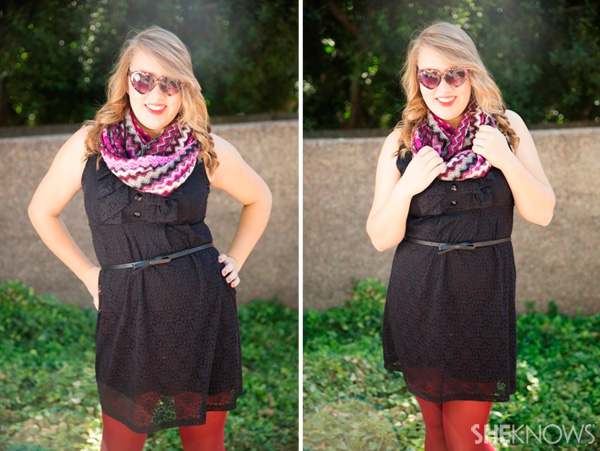 Fashion faceoff: Two ways to style an infinity scarf