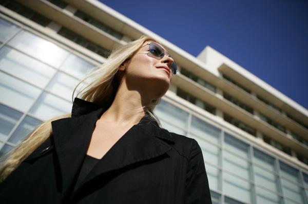 Fashionable business woman