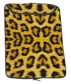 Leopard laptop sleeve