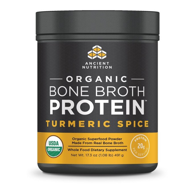 Ancient Nutrition Organic Bone Broth Protein Turmeric Spice