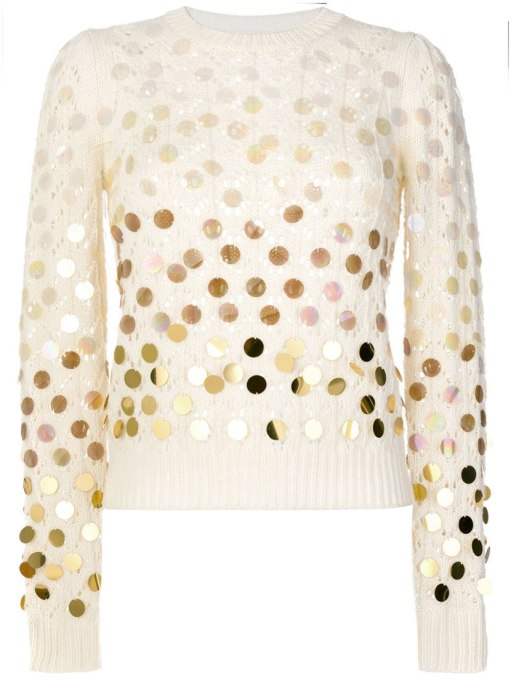 Non-Cheesy Ways to Wear Sequins: Marc Jacobs sweater | Fall Fashion Trends 2017