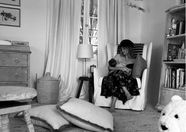 Lauren Paul and baby on Instagram