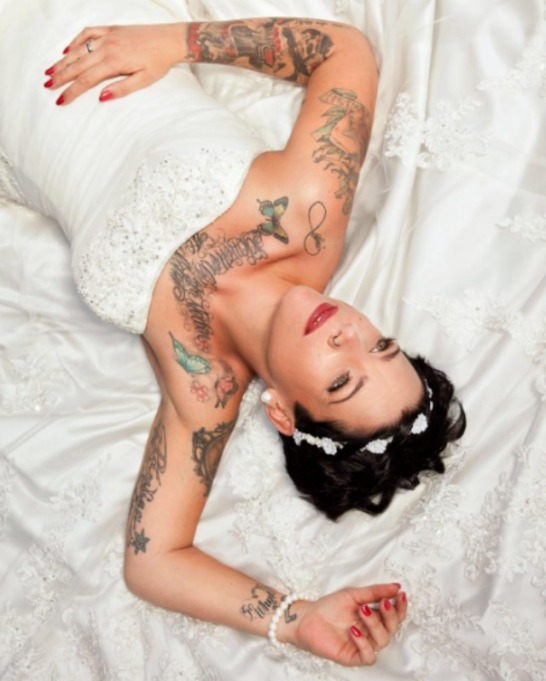Brides with tattoos