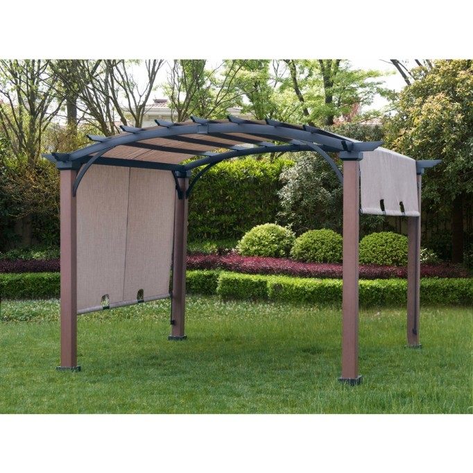 allen + roth Freestanding Pergola with Canopy