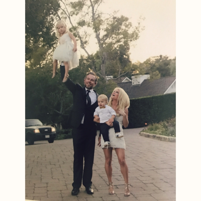 Jessica Simpson's family photos are totally beautiful: Eric holds Maxwell up with one hand