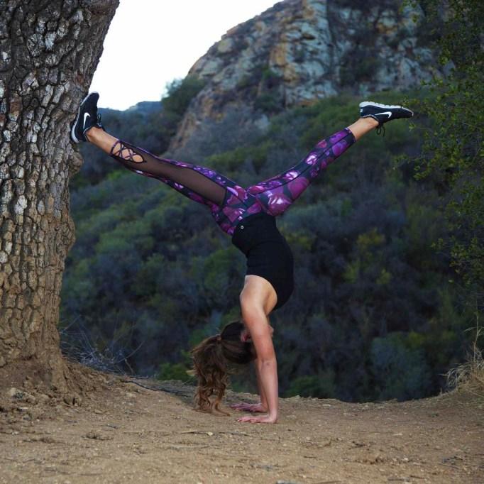 Cassey Ho doing yoga