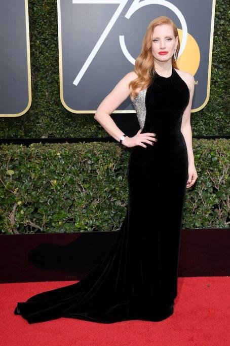 Best Golden Globes fashion 2018: Jessica Chastain
