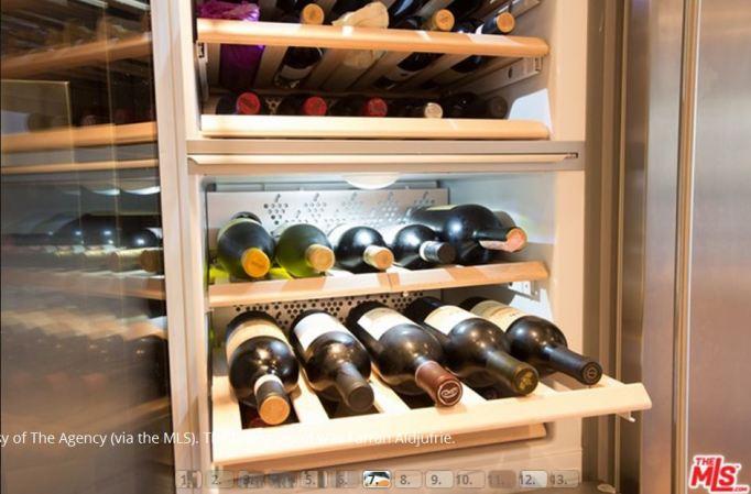 Kris Jenner wine refrigerator