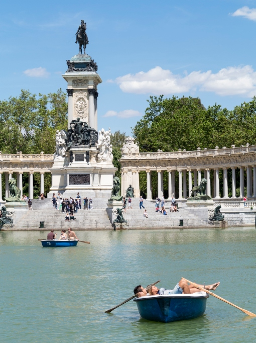 Boating lake in Retiro Park, Madrid