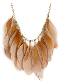 seasonal feather statement necklace by Carole