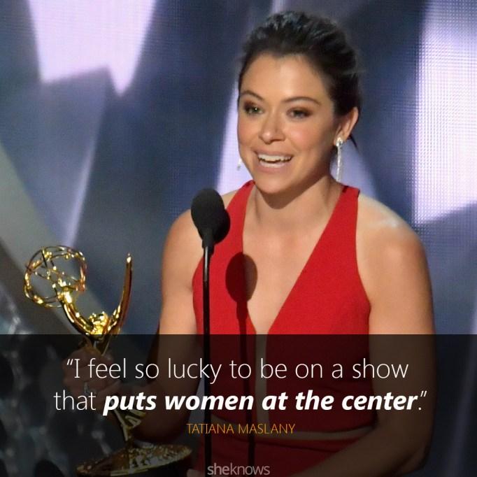 Tatiana Maslany Emmys speech