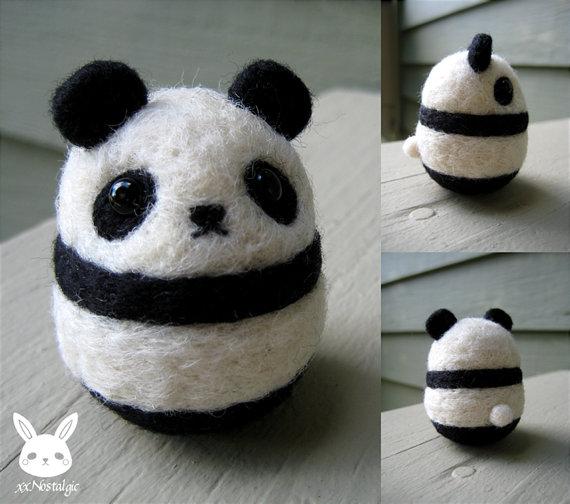 Felted Panda by xxNostalgic