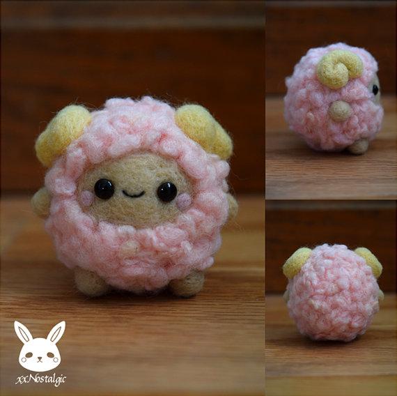 Felted Fluffy Sheep by xxNostalgic