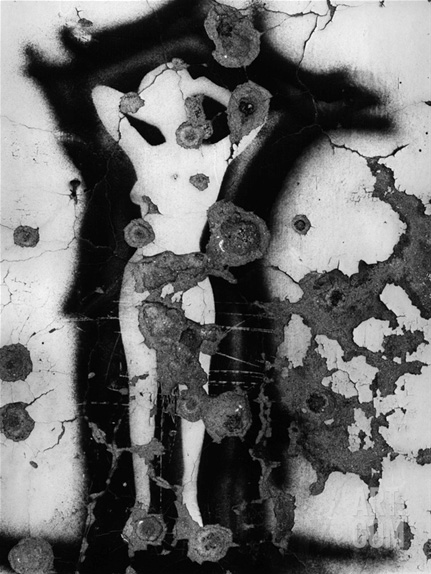 Brett Weston graffiti portrait