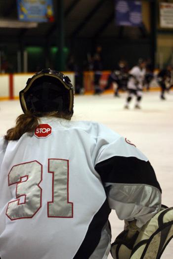 Female goalie