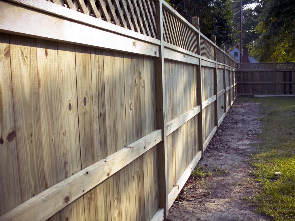 texas wood privacy fence