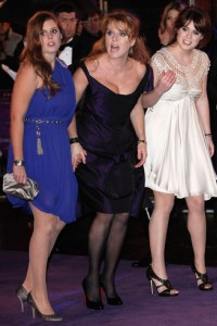 Duchess Fergie and her daughters at the Victoria premiere