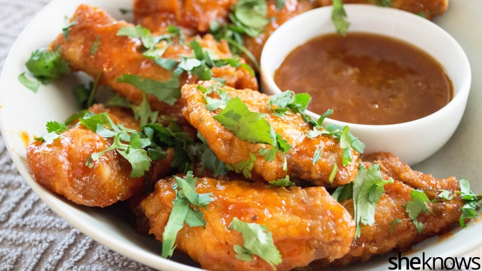 Sticky-sweet baked wings, because frying food