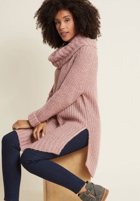 Cozy Sweaters For Under $100: Homecoming 'Round the Mountain Sweater in Mauve | Fall Fashion 2017