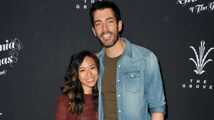 Drew Scott and Linda Phan attend A California Christmas at The Grove
