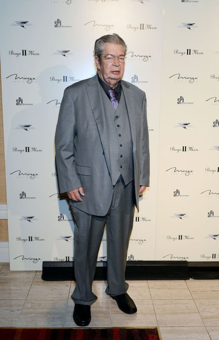 Richard 'The Old Man' Harrison from History's 'Pawn Stars' television series arrives at the opening of Boyz II Men new residency