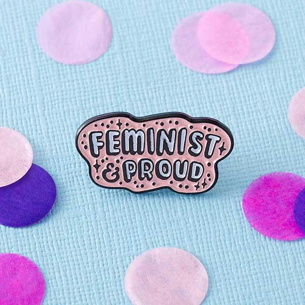 Feminist & Proud Pin