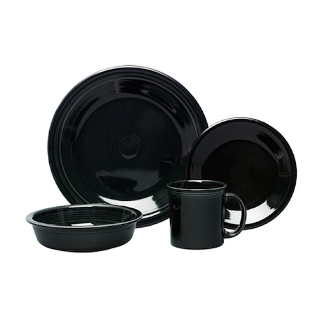 black set of fiesta ware