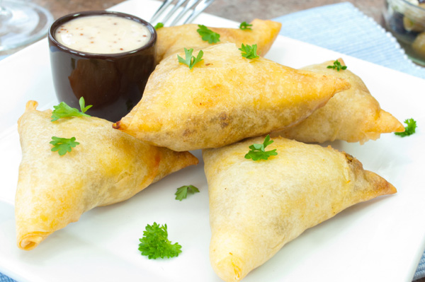 Fresh fig and goat cheese phyllo appetizer