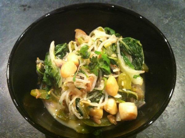 Thai scallops