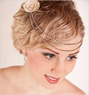 The vintage chick wedding hair accessories