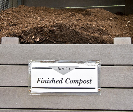 Finished compost bin
