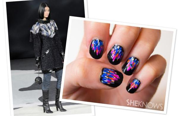 Feathered ombre nails inspired by Chanel