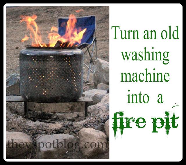 washing machine fire pit