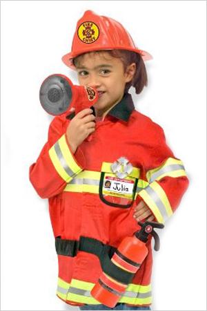 Firefighter - Halloween costume for girls