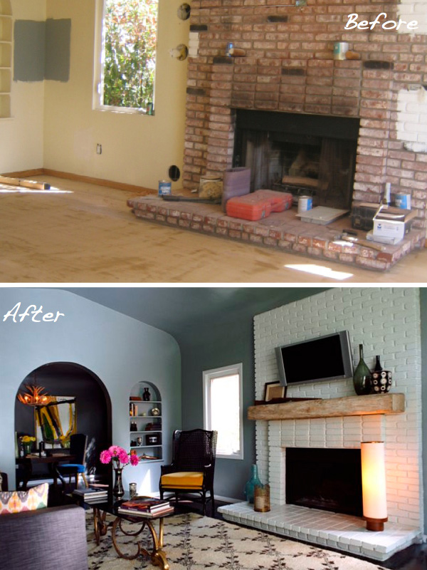 Kishani Perera's fireplace makeover