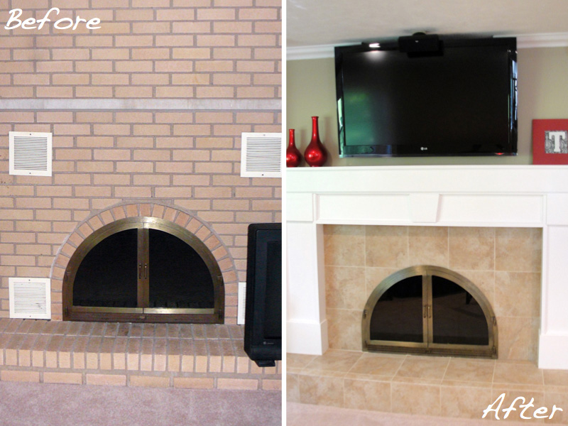 Lisa's fireplace makeover