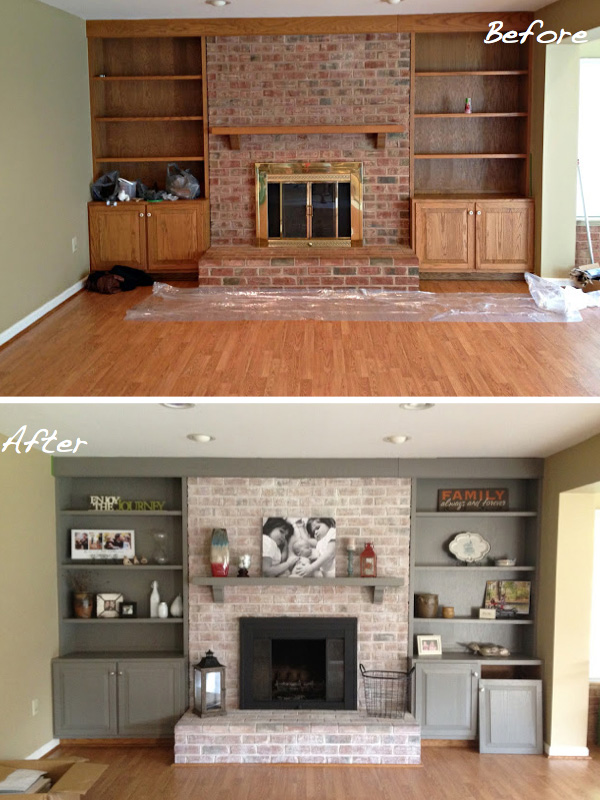 Incredible Before After 15 Fireplace Surrounds Made Over Sheknows Home Interior And Landscaping Ologienasavecom