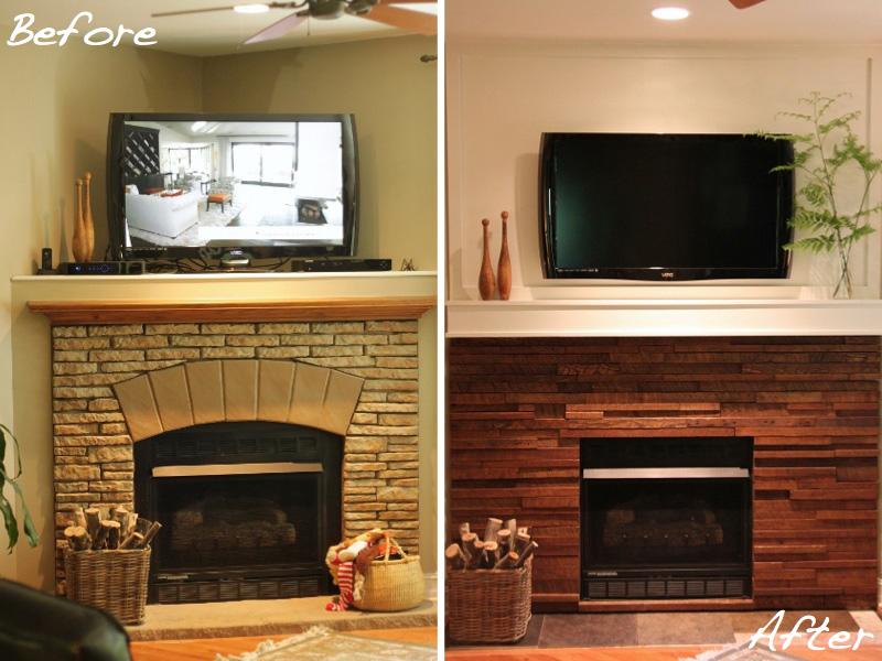 Shannon Berrey's fireplace makeover