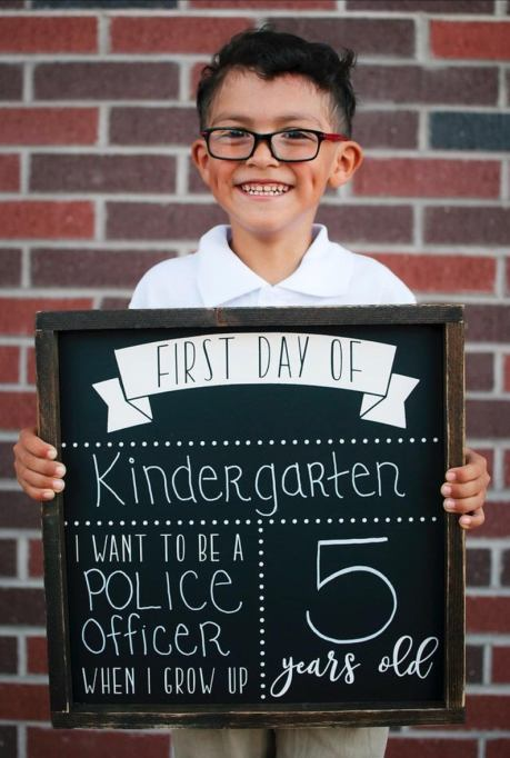 Chalkboard first day of school sign Etsy