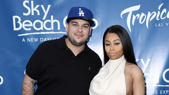 Rob Kardashian and Blac Chyna Celebrate