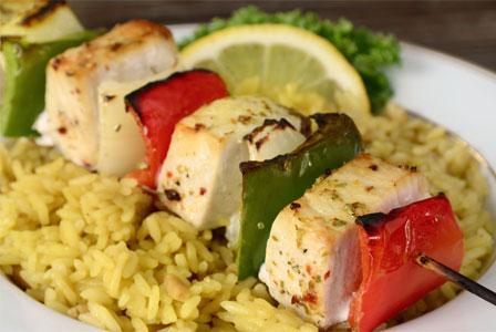 Fish kebabs