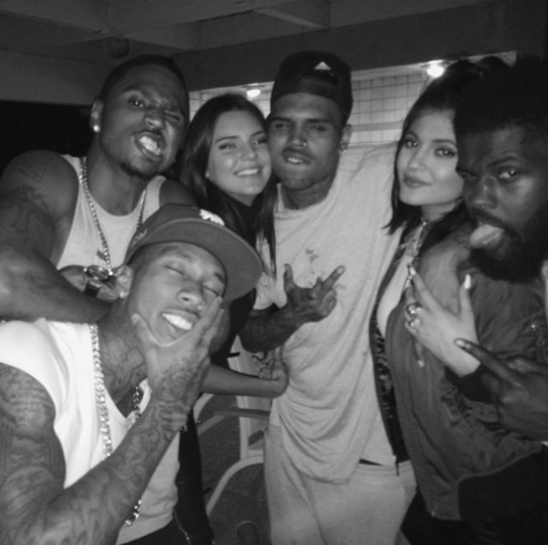 Kylie Jenner and Tyga partying