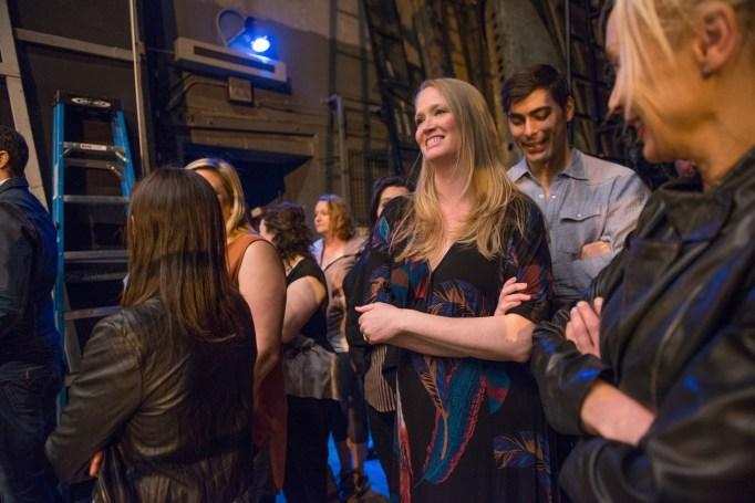 Liz Brooks with Met Opera cast