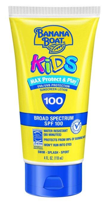 Banana Boat Kids sunscreen lotion, SPF 100