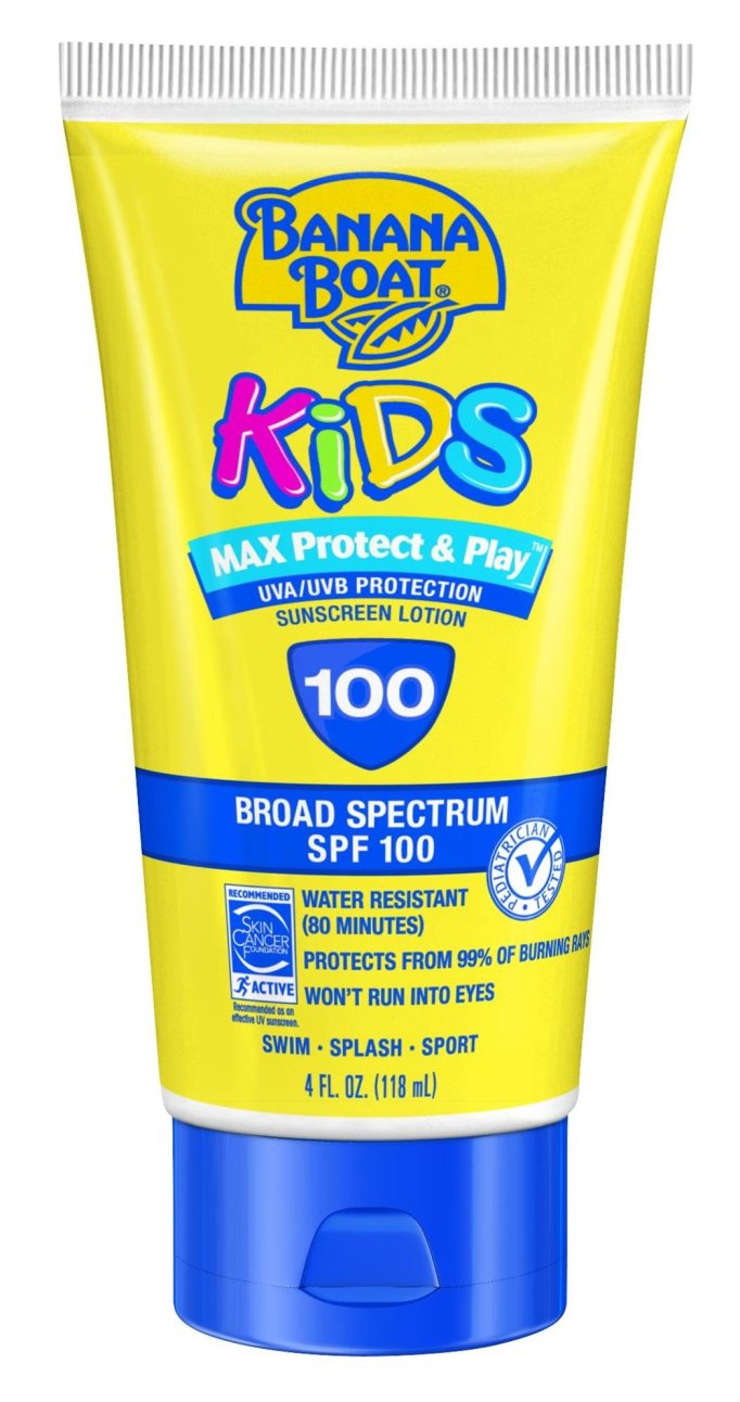 Banana Boat Kids sunscreen lotion, SPF 100
