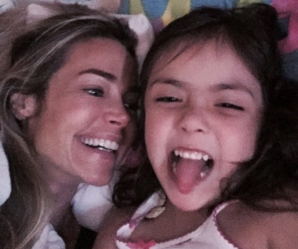 Denise Richards and her adopted daughter Eloise