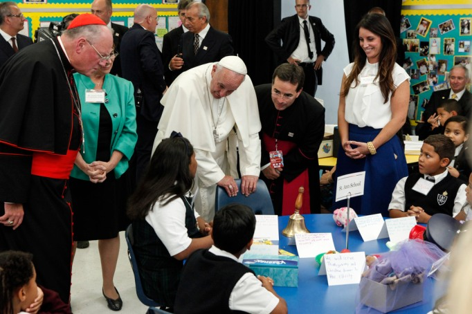 Pope Francis visits Our Lady Queen of Angels School