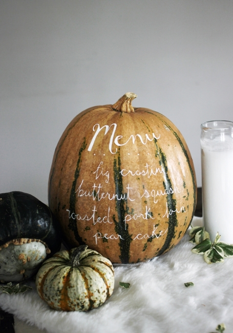 Pumpkin Menu